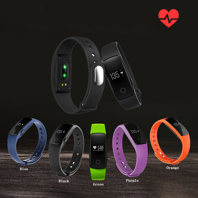 Bluetooth Smart Bracelet A9 smartband Heart Rate Monitor Wristband Fitness Tracker remote camera for Android iOS ID107