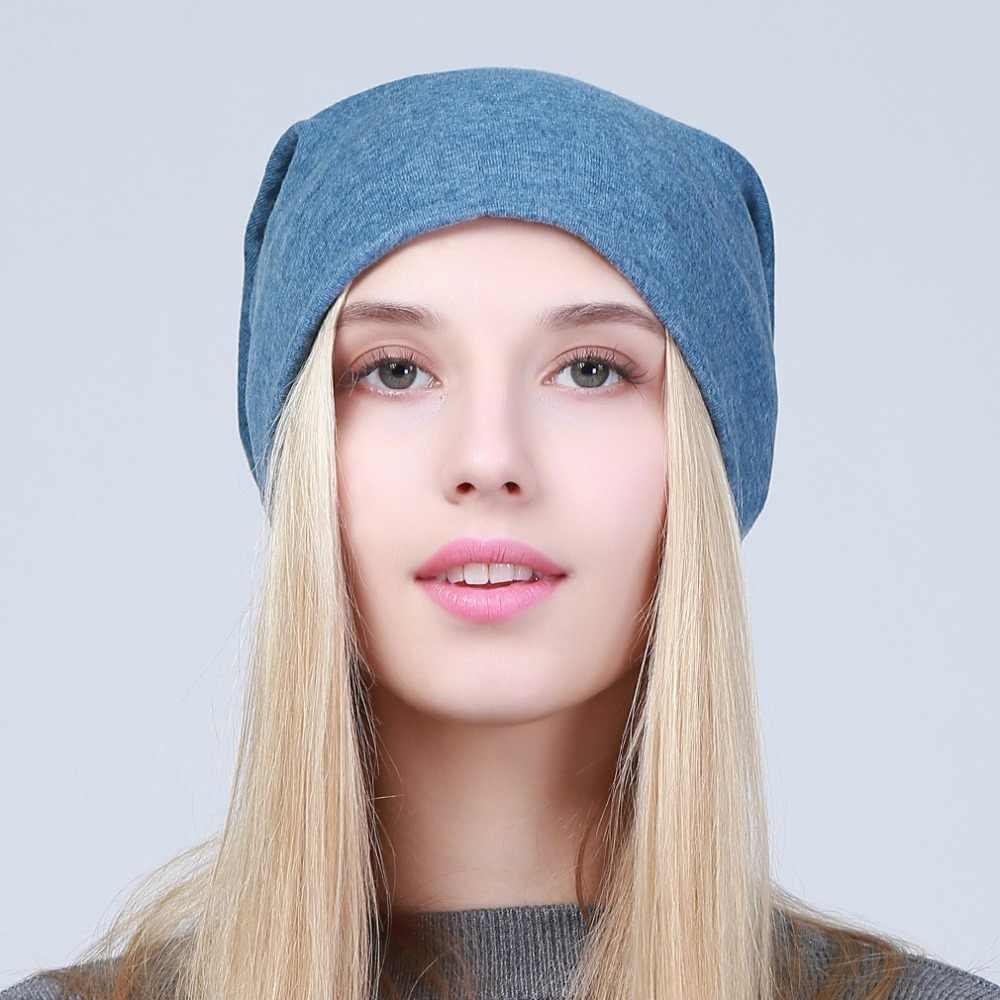 Geebro kadın düz balıkçı şapkası 2020 bahar pamuk sarkık şapka kadınlar için örme kemik şapka bayanlar siyah Skullies kap JS293A