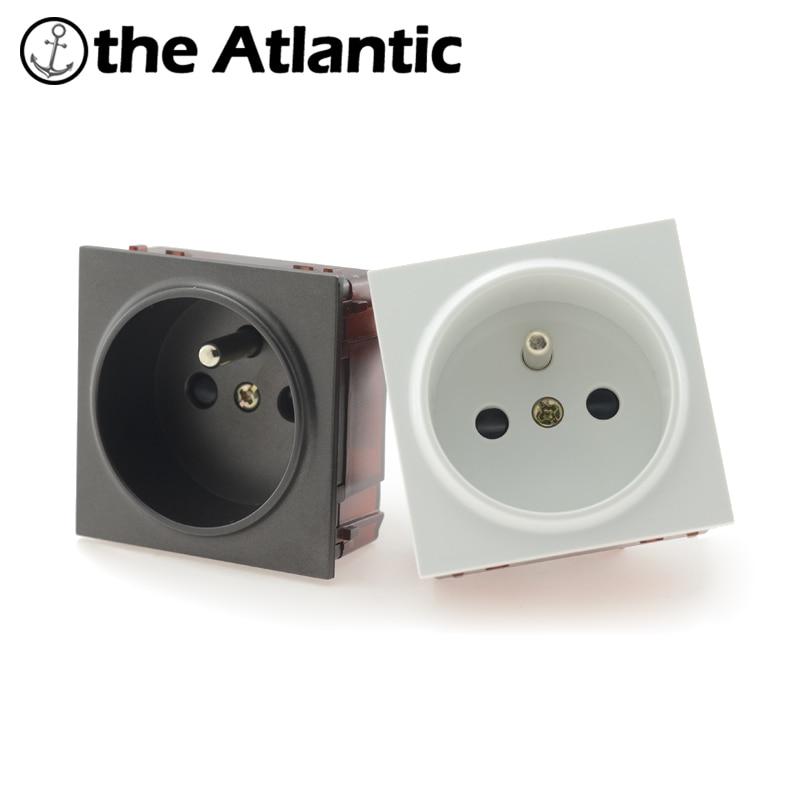 Socket DIY Parts White/Black Plastic Materials,FR Standard, Function Key For FR Wall Socket French Standard Customize