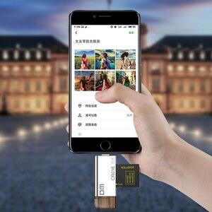 Image 4 - DM CR016 Blitz Micro SD/TF OTG Kartenleser USB 3.0 Speicher Mini Kartenleser für iPhone 6/7/ 8 Plus iPod iPad OTG Kartenleser