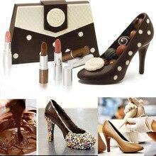 Дизайн Обувь на высоких каблуках поликарбонат шоколадные конфеты плесень Комплект 3D литья инструкции Помады Торта