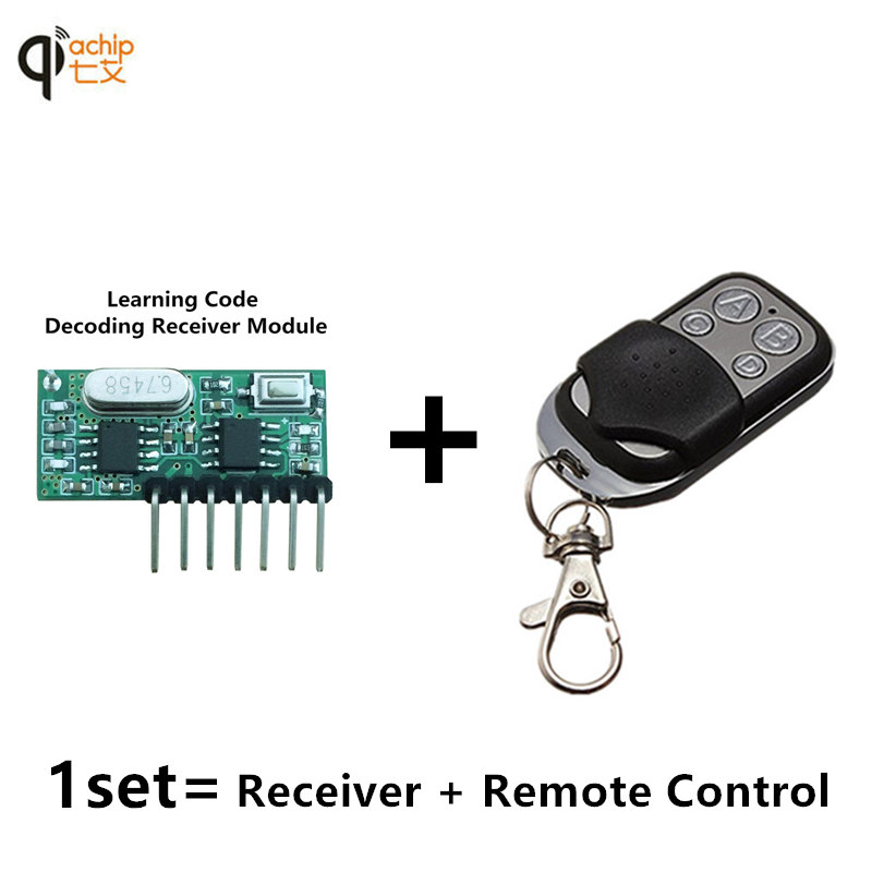 433 Mhz Remote Control and 433Mhz Wireless Receiver Learning Code 1527 Decoding Module 4Ch output With Learning Button wireless pager system 433 92mhz wireless restaurant table buzzer with monitor and watch receiver 3 display 42 call button