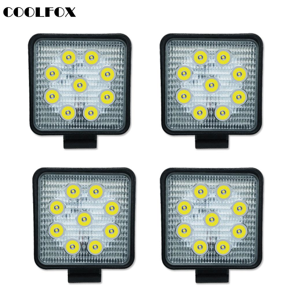 27 Вт автомобильная рампа световой индикатор пятно 12 вольт Offroad светодиодные панели свет работы Worklight фонари вождения авто аксессуары Werklamp