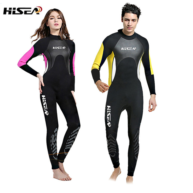 цена на 2.5MM Neoprene Diving Wet Suits Men Women Long Sleeve One-piece Diving Wet Suits Spearfishing Snorkeling Diving Swim Wet Suits