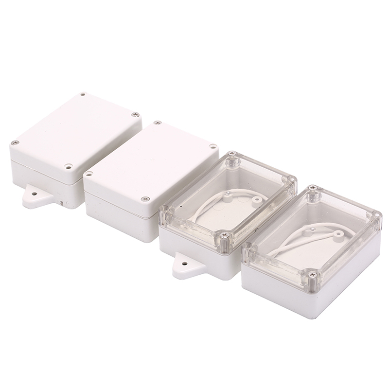 1PC Waterproof Plastic Electronic Instrument Project Cover Box Accessories Enclosure Case Clear Transparent/ White 85x58x33mm 1pc waterproof enclosure box plastic electronic project instrument case 200x120x75mm