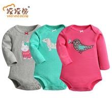 100% Cotton Baby Bodysuit 3pieces/lot Autumn Newborn Cotton Body Baby Long Sleeve Underwear Next Infant Boy Girl Pajamas Clothes