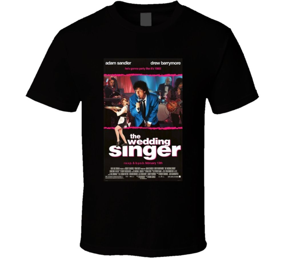 The Wedding Singer Cool 90S Comedy Vintage Classic Movie Poster Fan T Shirt ...