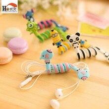 CUSHAWFAMILY cute Cartoon animal bobbin winder ear mechanism storage line hub multi function Cables to receive