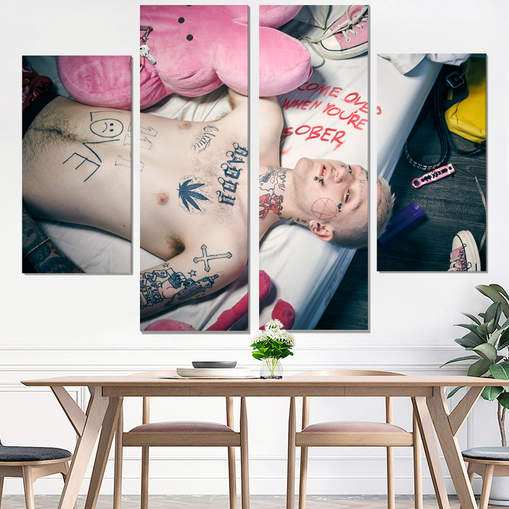 canvas painting lil peep painting canvas canvas poster wall painting art print photo print decorative pictures wall art giclee in Painting Calligraphy from Home Garden