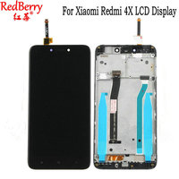 Redberry For Xiaomi Redmi 4X LCD Display Touch Screen Digitizer Assembly With Frame Repair Replacement Parts