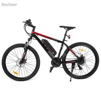 Ancheer 26 Inch 250W Electric Bikes 21 Speed Electric Mountain Bike With Lithium Ion Battery