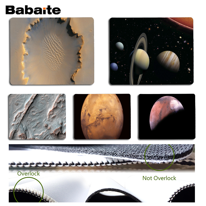 Babaite High Quality Mars Computer Gaming Mousemats Size for 180x220x2mm and 250x290x2mm Small Mousepad