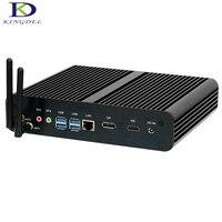 16G RAM+128G SSD+1T HDD Fanless desktop PC Intel Core i7 7500U Kaby Lake SD card slot HDMI DP 4K Mini PC