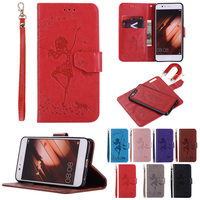 For Huawei P10 Case 2 In 1 Removable Wallet Leather Case For Huawei P10 Plus Embossed