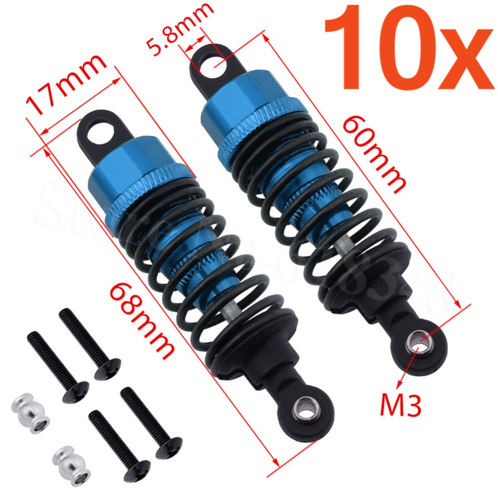 Wholesale 10Pairs/Lot 122004 HSP Upgrade Parts Alum.Shock Absorber 2P For 1/10 Himoto Racing Model Car On Road 94122 XSTR POWER