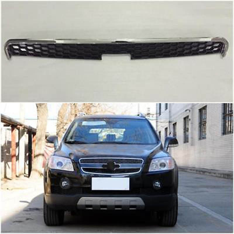 1PC Front Grill Chrome Upper Grille Bumper Hole Mesh For Chevrolet Captiva 2006-2011 front car bumper mesh grille for 2014 chery tiggo 5 car front mesh grill