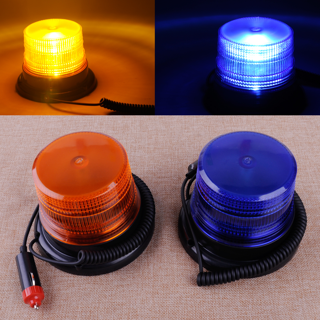 CITALL New 12V Car Truck Bus Beacon Rotate Strobe Magnetic Flash Emergency Beacon Strobe Light Warning Alarm Flash LED Lamp