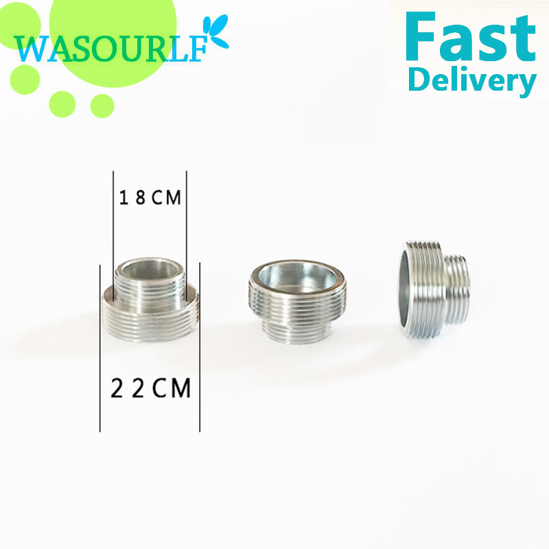 WASOURLF 2PC M22 male thread transfer M18 male connector shower ...