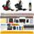 Solong Tattoo Kit Completo Del Tatuaje 2 Pro Machine Guns 54 Tintas de Alimentación Foot Pedal Agujas Grips Consejos TK225