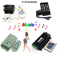 Wholesale 2.4G music controller 20 Keys 24 DC12-24V RGB Sound Sensitive remote 2 for 5050 3528 led strip light lamp