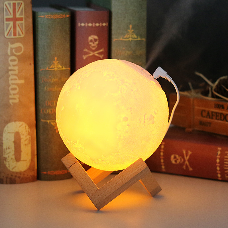 Moon Lamp Air Humidifier 880ML 3D Moon light Diffuser Aroma Essential Oil USB Ultrasonic Humidificador Night Cool Mist Purifier