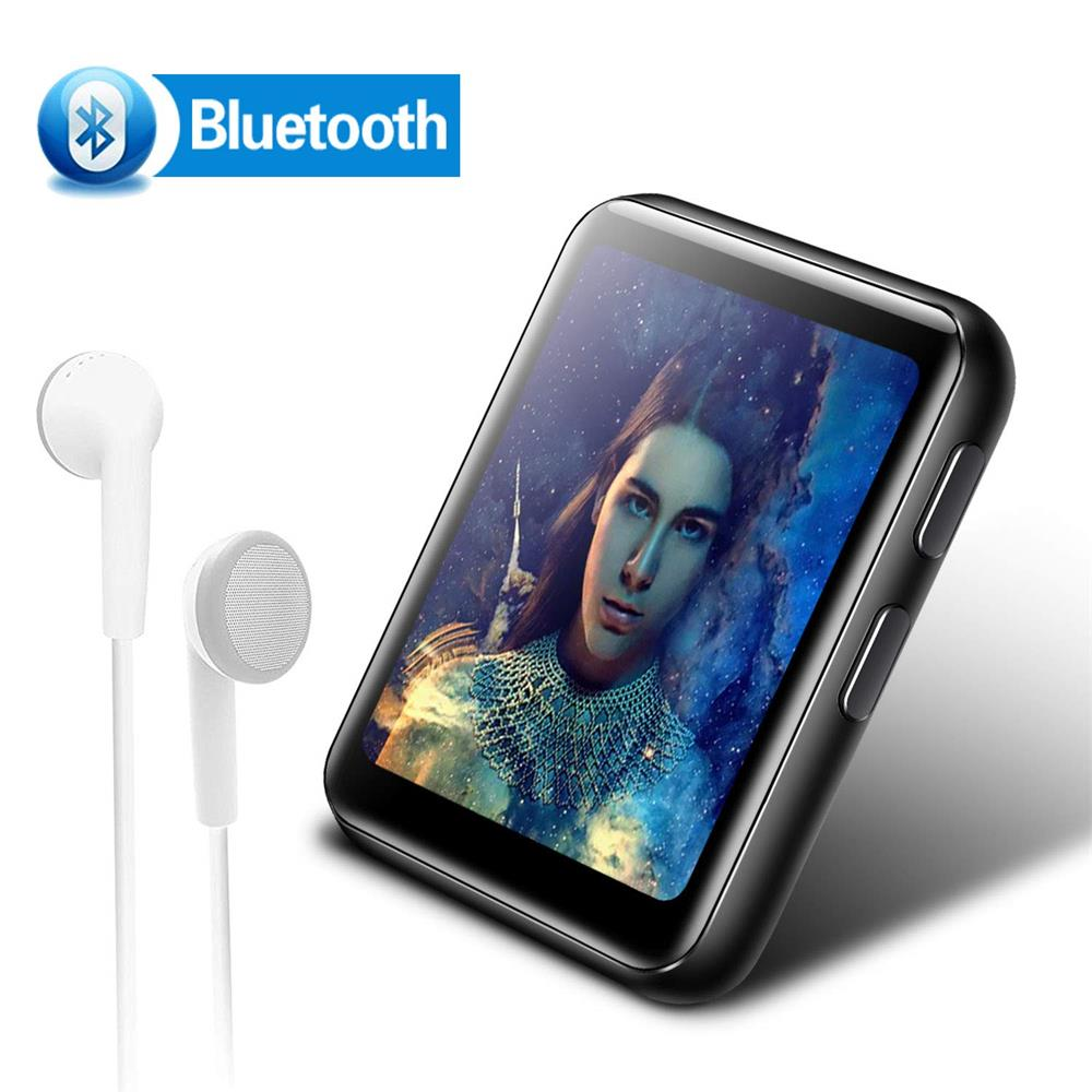 Mini Clip MP3 Player Bluetooth Portable Music Player HiFi Metal Audio Player With FM, Recorder 1.8 Inch Touch Screen For Running