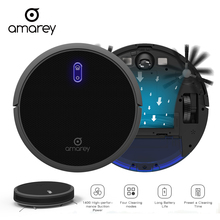 Amarey  Robot Vacuum Cleaner For Home Automatic Sweeping Dust Sterilize Smart Planned Mobile App Remote Control Black A800 цена и фото