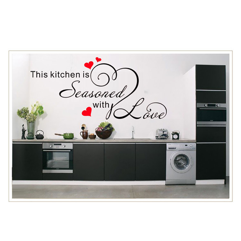 Modern Style This Kitchen Seasoned Wall Sticker Mural Artist Decoration Wall Stickers on ...