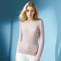 100 Cashmere Sweater Women Winter Red Sky Blue Peppermint Pink Sweaters Girl White Warm Natural High Quality Free Shipping