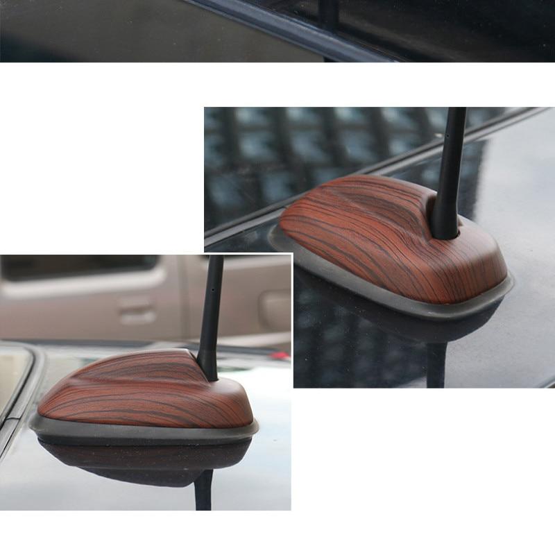 For mini cooper s F55 F56 2014 pink Mahogany brown carbon fiber antenna base cover super