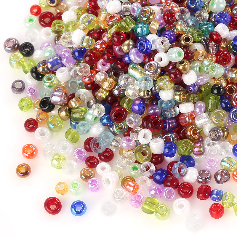 30g / pako 2MM Beads Beads Glass Spacer Beads charms Rreth rruaza bizhuteri të rrumbullakëta Crystal Loose For Jewelry Making Accessories byzylyk