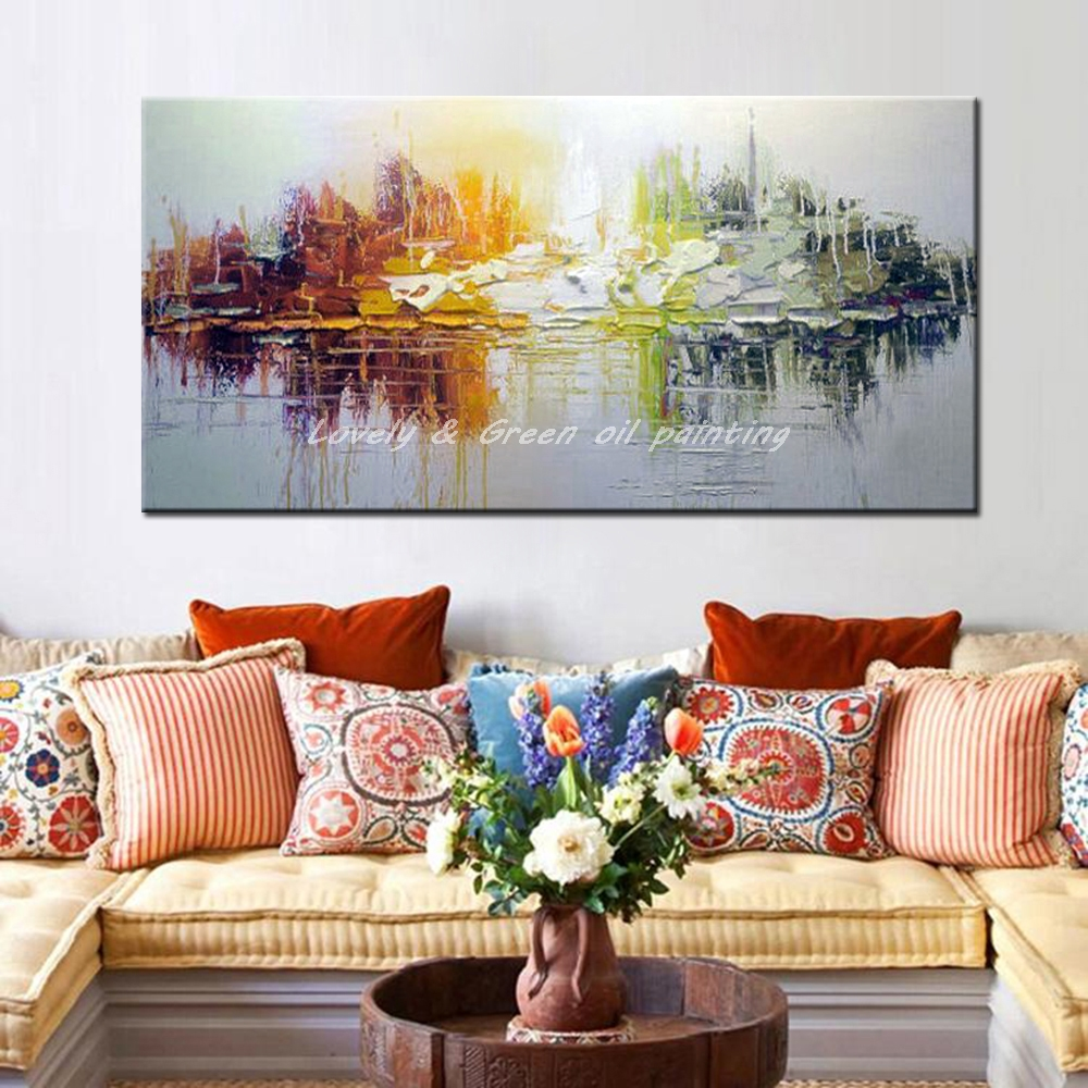 Modern Painting Canvas Basketball Wall Pictures Home Decor: Hand Painted Canvas Oil Paintings Modern Abstract Oil