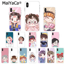 MaiYaCa Cute cartoon Kpop exo DIY drukowanie rysunek etui na telefon Shell dla Apple iphone 11 pro 8 7 66S Plus X XS MAX 5S SE XR(China)