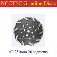 10 ''алмазный шлифовальный диск для edco blastrac мясорубки Бесплатная доставка | 250 мм крупнозернистая пластина для Бетонного Пола | 20 сегментов