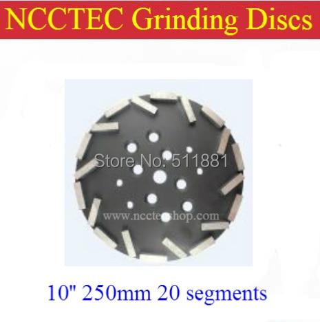 10 ' ' Diamond meule pour EDCO Blastrac grinder livraison gratuite | 250 mm grossière qualité plaque pour béton plancher | 20 segments