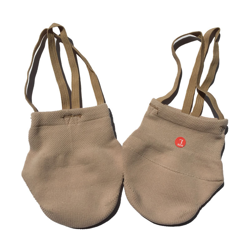 7bc72cf74242 Rhythmic Gymnastics Shoes Soft Half Socks Ballroom Art Gym Accessories  Ginastica Elastic Dance Shoes Gymnastics Khaki Color-in Gymnastics from  Sports ...