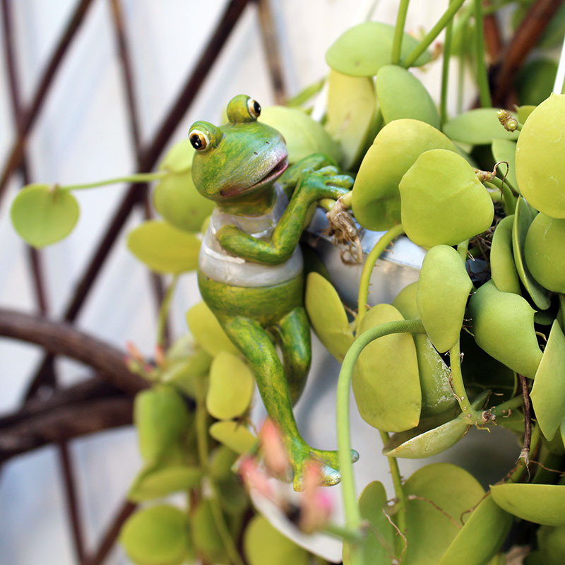 4pcs/Set Creative Climbing Frogs Bonsai Decorative Hang Frog Outdoor Garden Flowerpot Decor For Home Desk Garden Decor Ornament