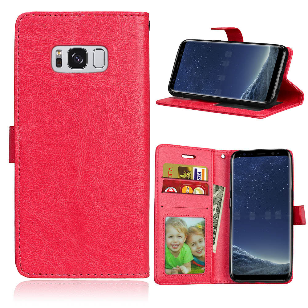 S8 Plus S3 S4 S5 Mini Luxury Flip Leather Case For Samsung Galaxy S7 S6 Edge Plus Wallet Coque+Silicone Back Cover Phone Bag