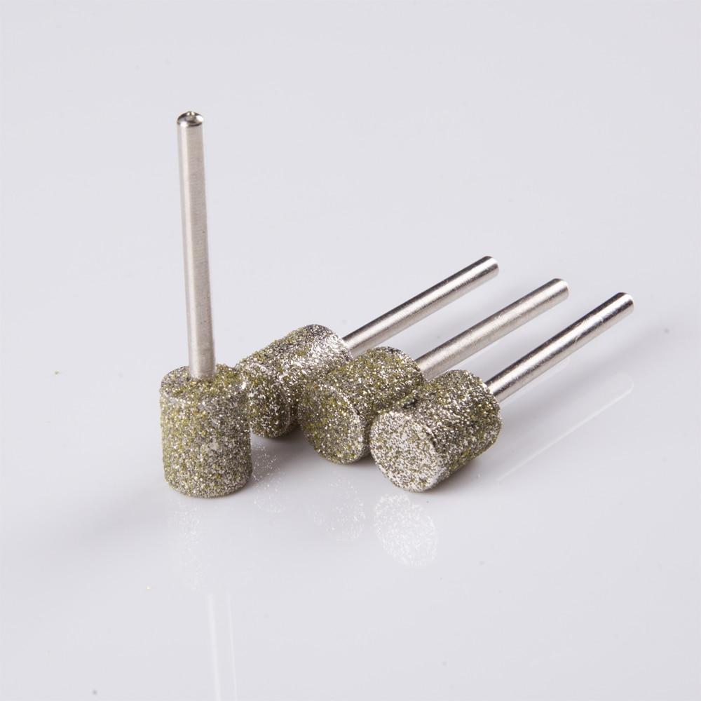 # 60 cylinderform grovkornad diamant bit dremel slipning burr dremel verktyg för polering av skalning för dremel / roterande verktyg
