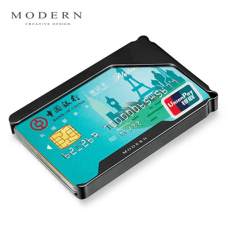 Brand Aluminum Slim Card Holder Card Wallet Credit Card Case Minimalist Men Wallets Mini Travel Wallet Organizer - Morden