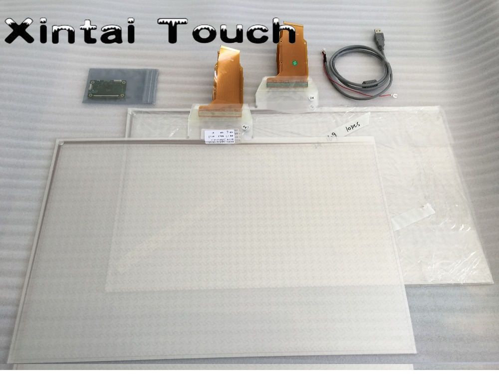21.5 Inch Interactive Touch Foil 10 Touch Points Capacitive Touch Screen Foil Film For Interactive Wall