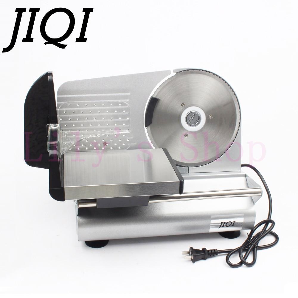 JIQI electric meat slicer mutton roll frozen beef cutter lamb Vegetable Slicing machine stainless steel grinder 110V 220V EU US