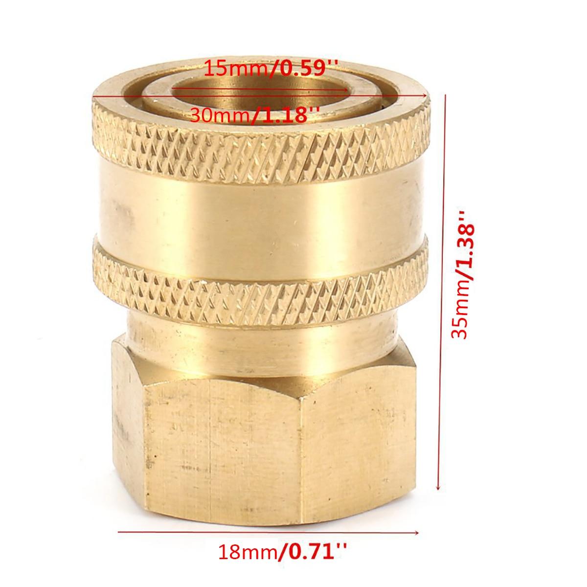 3/8 4000psi Латунь Quick Connect Муфта адаптер 30*15 мм для автомобиля Ручная стирка Давление шайба разъем фитинги mayitr