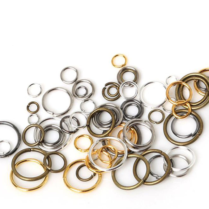 Findings-Accessories Jump-Rings Jewelry Making DIY Bronze/rhodiumfor Iron 500pcs/200pcs