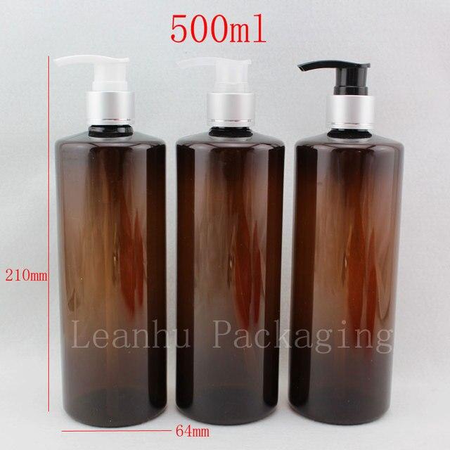 Poważne 500 ml X 12 balsam pompy brązowe plastikowe butelki na szampon TH83