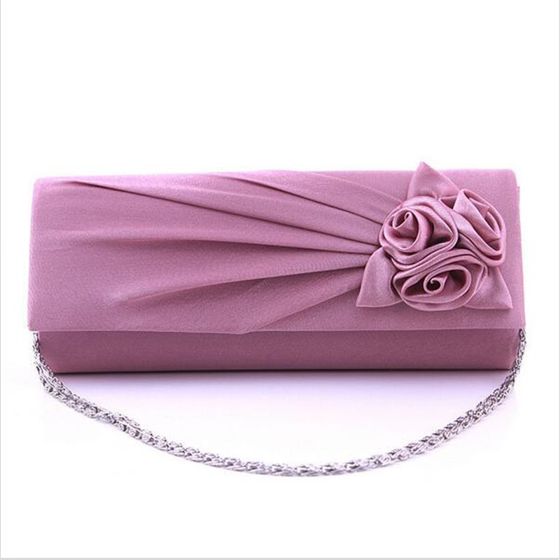 2017 Women's Evening Party Bags Prom Flower Wedding Bag Purse Wallet Fashion Elegant Ladies Satin Clutch Handbags Totes Gifts new fashion womens elegant pleated satin rhinestone fashion clutch handbags evening bag