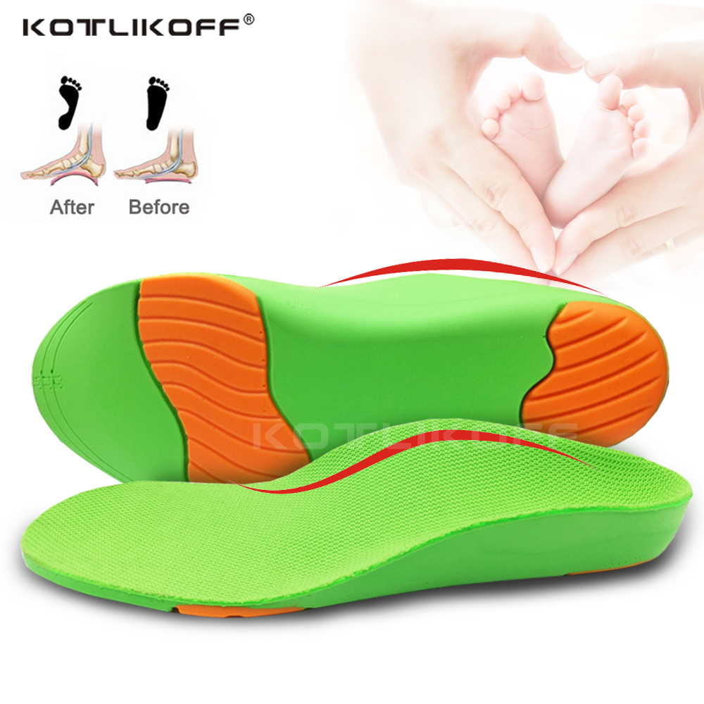 3D Children Orthopedic Shoes Sole Insoles Arch Support Insoles Baby Orthopedic Flat Feet O/X Legs Valgus Varus Cushion For Kids