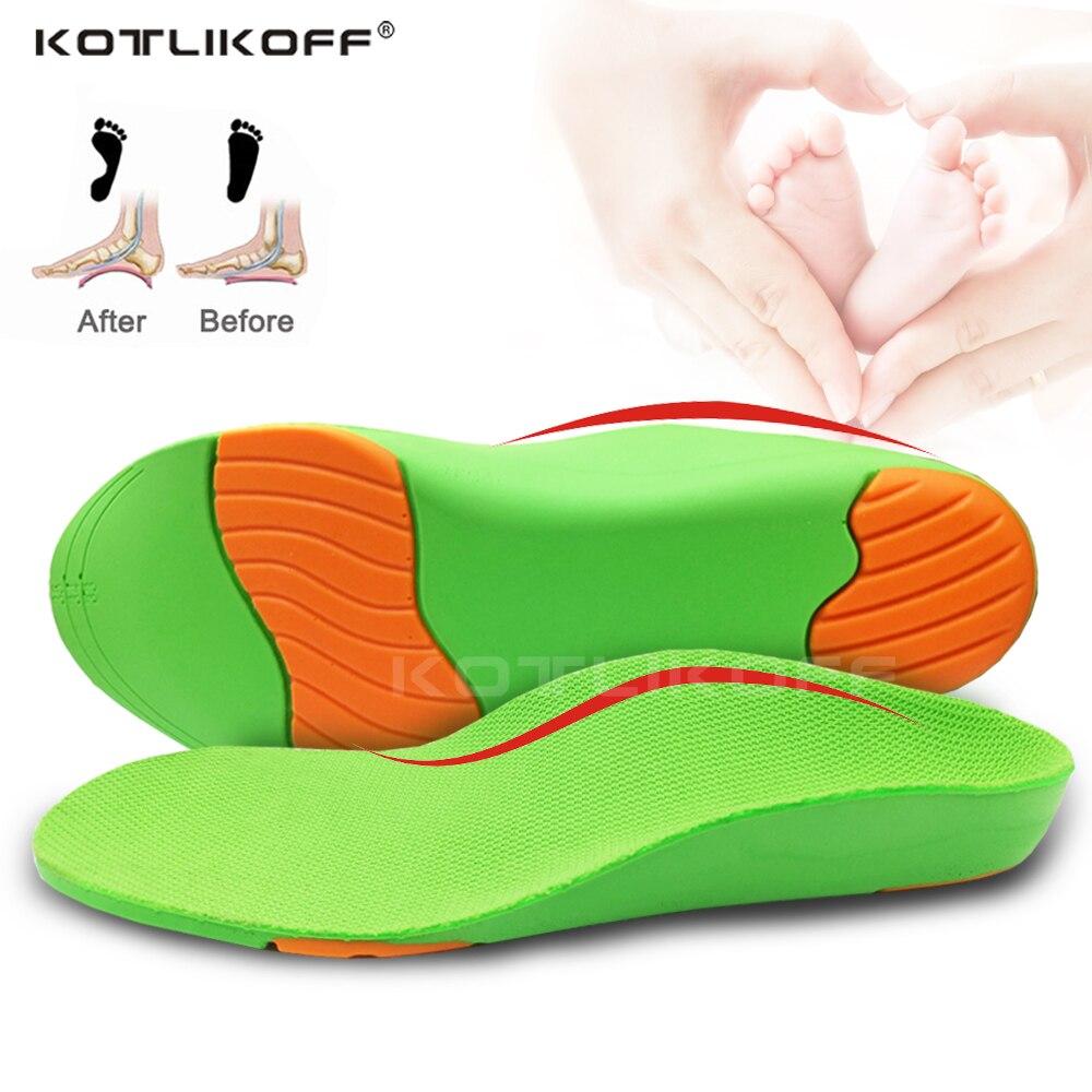 3d crianças ortopédicas sapatos sola palmilhas arco apoio palmilhas ortopédico pés planos o/x pernas valgus varus almofada para crianças