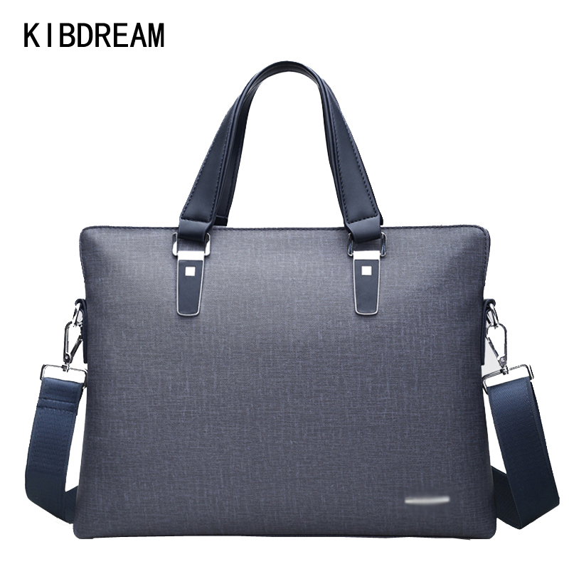 KIBDREAM Men's Casual Shoulder Bags Male Business Briefcase PU Leather Messenger Bag Computer Laptop Handbag Men's Travel Bags