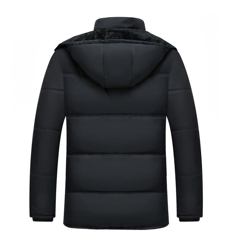 Image 4 - Mwxsd ブランド冬のメンズ厚く暖かいパーカージャケットとコート男性厚いパッド入り毛皮のコートの男性スタンド襟オーバーコート    グループ上の メンズ服 からの パーカー の中